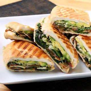Mexican Mushroom and Spinach Sandwich (Vegan Torta).