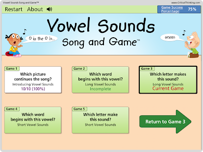 Vowel Sounds Song and Game™- screenshot thumbnail
