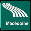 Carte de Macédoine off-line