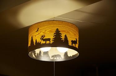 森のランプシェード