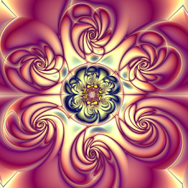 Floral 3 by Cassy 67 - Illustration Abstract & Patterns ( abstract, purple, wallpaper, ornament, digital art, harmony, circle, fractal, digital, fractals, flower, floral )