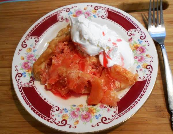 Nancys-creamed Apple Pie W/red Cinnamon Syrup Recipe