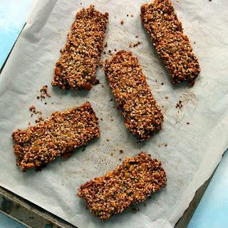 Vegan Keto Maple Granola Bars (nut-free, gluten-free, soy-free).