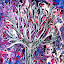 The Aura Of A Tree by Amada Gonzalez - Painting All Painting ( abstract art, nature, fluid art, tree, aura )