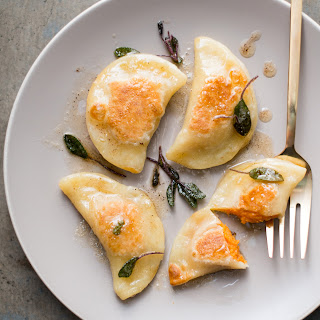 Sweet Potato Pierogi with a Sage Brown Butter Sauce.