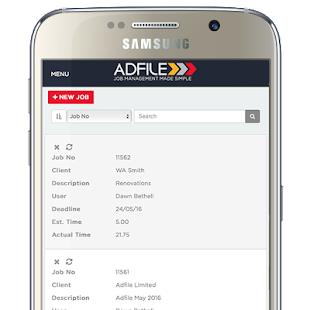 Adfile Job Management System- screenshot thumbnail