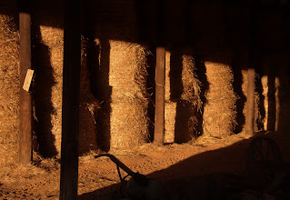 Photo: Hay in the pole barn