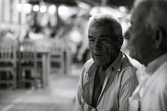 """Photo: Remebrance II – I liked the contrast of the dark-skinned old spanish guys, looking kind of """"back"""" while it was very bright behind them."""