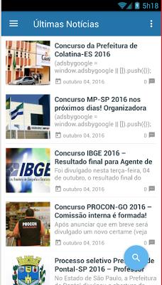 Notícias Concursos - screenshot
