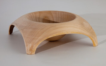 "Photo: STEVE DiBENEDETTO – 5"" x 1.75"" Wing-Footed Bowl [Maple]"
