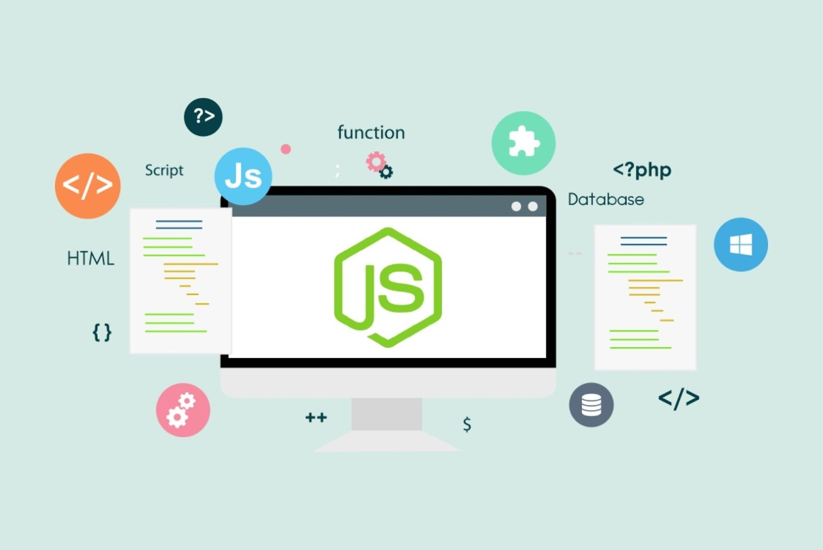 nodejs cross-platform app frameworks