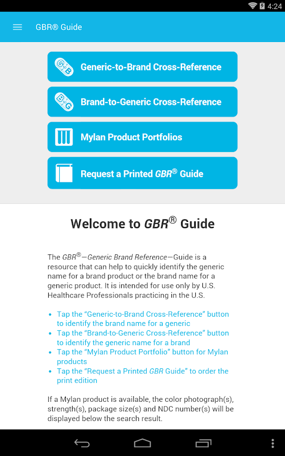 Mylan GBR Guide- screenshot
