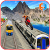 fou bicyclette cascade train Sim
