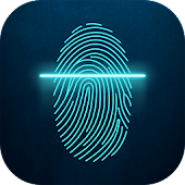 Fingerprint Lock Screen Neon