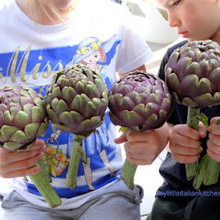 Tuna Stuffed Artichokes.