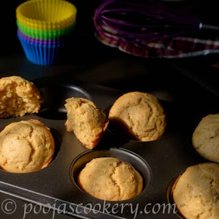 Eggless Apple Cupcakes.