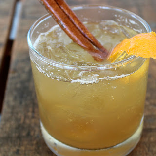 Spiced Apple Cider Old Fashioned Cocktail.