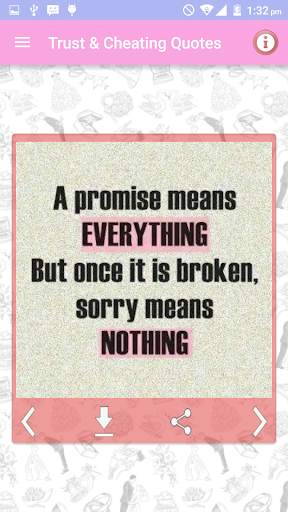 Trust & Cheating Quotes Images screenshots 1