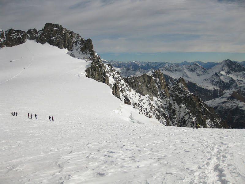 sul ghiacciaio - Punta Helbronner di Elisabetta Castellano