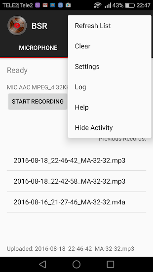 Background Sound Recorder- screenshot thumbnail