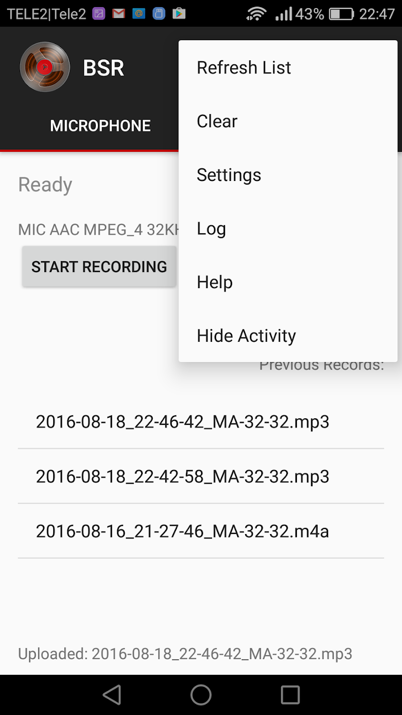 Background Sound Recorder Screenshot 2