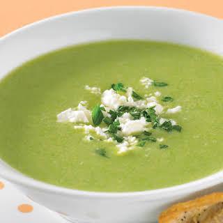 Fava Bean Soup with Parmesan Twists.