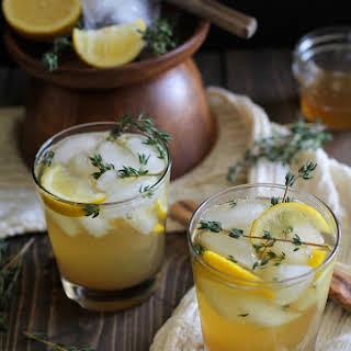 Lemon Thyme Bourbon Cocktails.