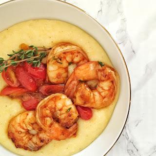 Creamy Polenta with Spicy Shrimp