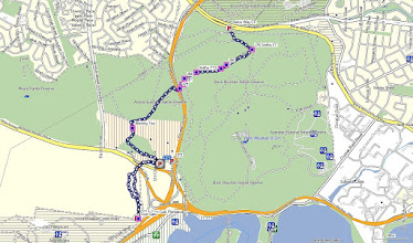 Photo: Blue Line is walk 6.2Km - GPS map view on map base using open source Open Steet Maps (OSM) NSW Cycle garmin map gps, kml files are located in Google Drive: https://drive.google.com/folderview?id=0B3KACTzeu2lANTA3NWM4NmItMjYyOC00MDAxLTk3ZDEtNzEzMjQ5MDViZGIw&usp=sharing