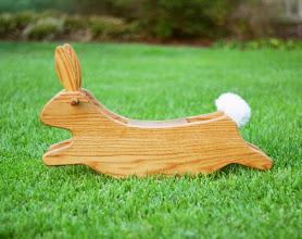 Photo: Wooden rabbit rocker