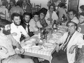 Photo: Grupo de redactores de Diario de Las Palmas. Luis García Jiménez, Adolfo Santana, Miguel Barrera, Juan Gregorio, Ramón Pañella, José Luis Garci, Santiago Betancort, Sebastián Quintana y Amado Moreno