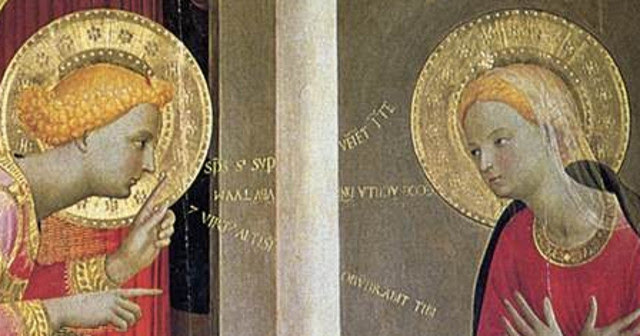 A detail from Fra Angelico's Cortona Annunciation