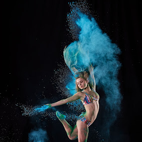 Blue Nina by William Kendzierski - People Portraits of Women ( dancers, portrait photographers, portraits of women, modeling, acrobat, dance, photography )