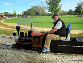 Photo: Bill Smith on the Charles Williams loco that the Williams family donated to HALS.      HALS / SWLS 2013-1107 RPW