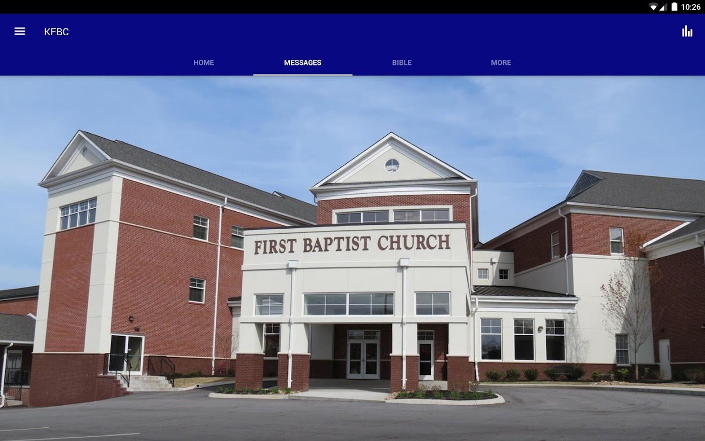 First Baptist Church Kingston- screenshot