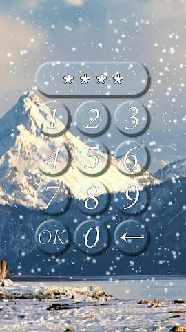 android Winter-Sperre Bildschirm. Screenshot 3