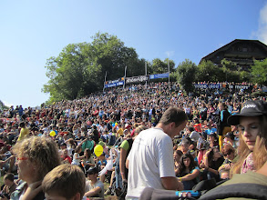Photo: Large crowd of spectators at the main launch at Coupe Icare