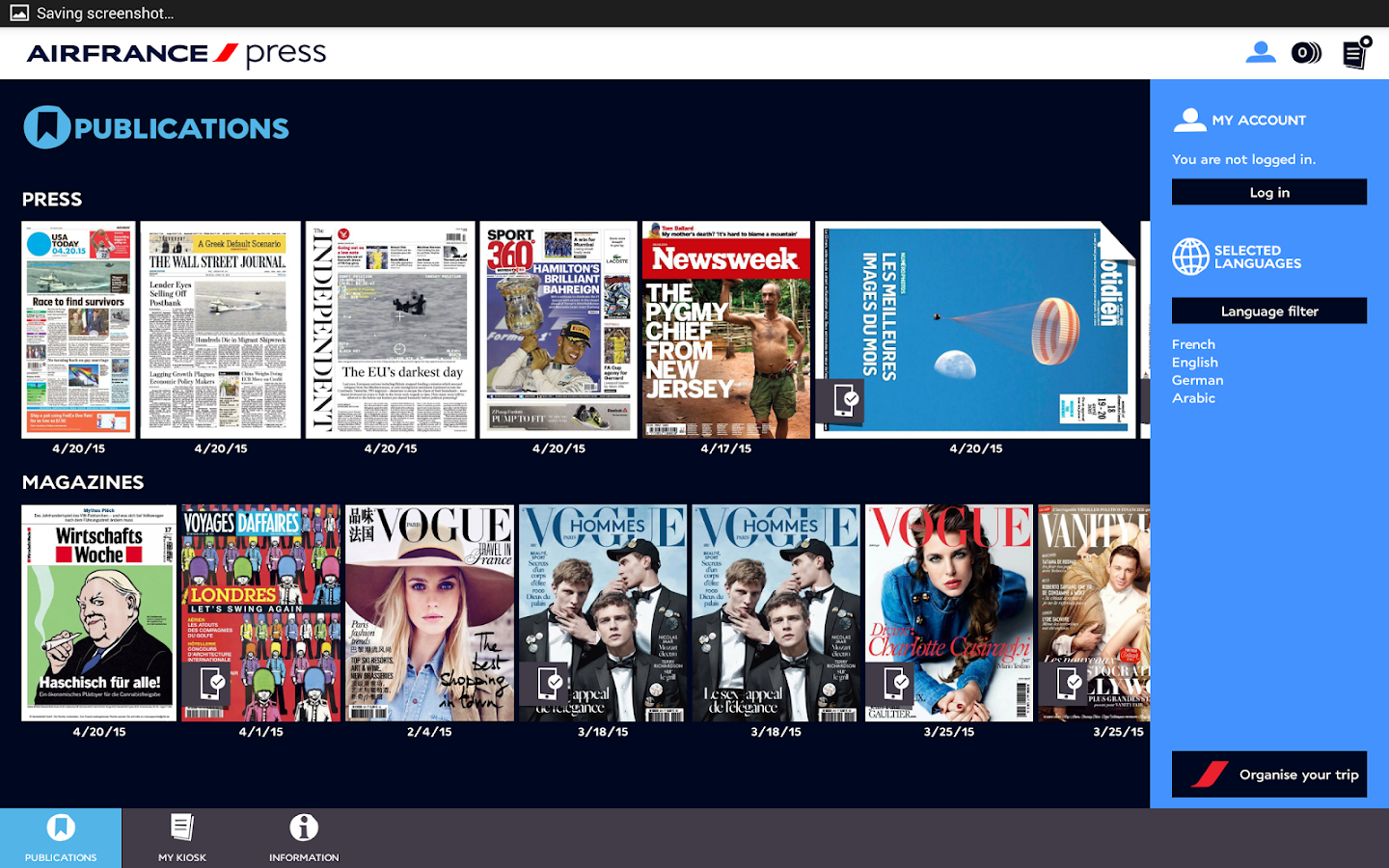 Air France Press - screenshot