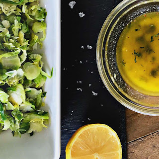 Shaved Brussels Sprouts Salad with Lemon Thyme Vinaigrette Recipe