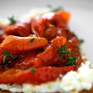 Ricotta and Roasted Red Bell Pepper Bruschetta