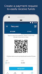 Blockchain - Bitcoin & Ether Wallet Screenshot