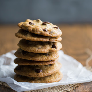 Thin and Crispy Chocolate Chip Cookies.