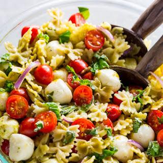 20-Minute Tomato, Basil, and Mozzarella Pasta Salad.