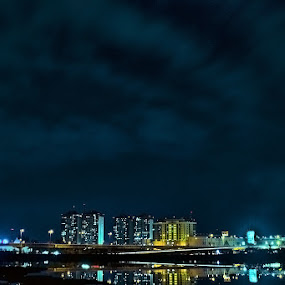 city at night by Hari Darmawan - Landscapes Starscapes ( cityview, arie46, landscape, longexposure, city )