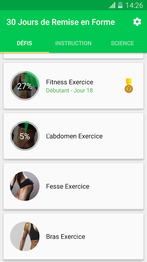 Assez 30 Jours - Fitness Challenge – Applications Android sur Google Play FB62