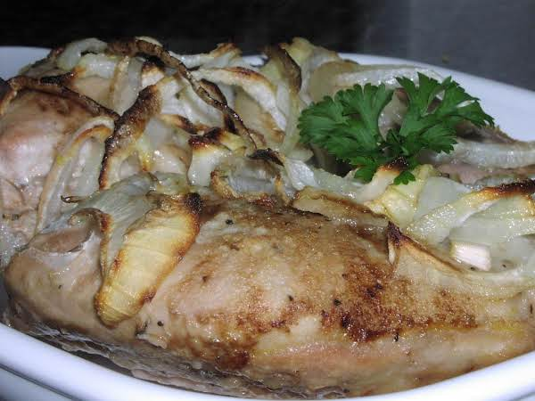 Pheasant Baked In Onion Rings Recipe