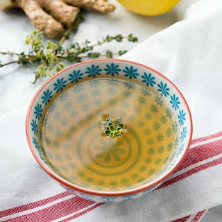 Slow Cooker Lemon-Ginger Sipping Broth.