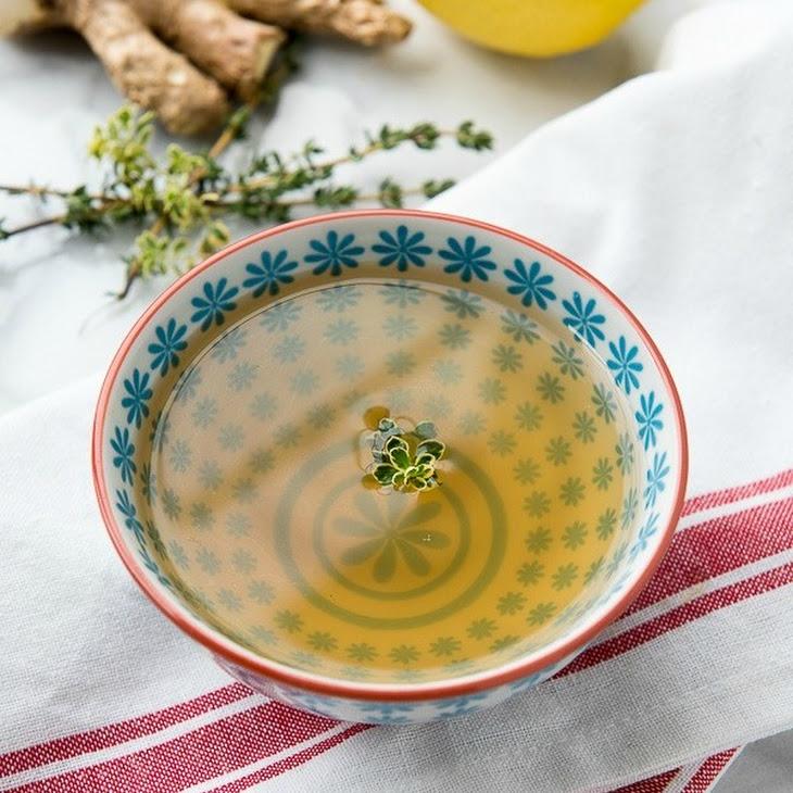 Slow Cooker Lemon-Ginger Sipping Broth