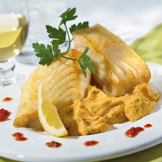Fischfilet mit Kichererbsencreme