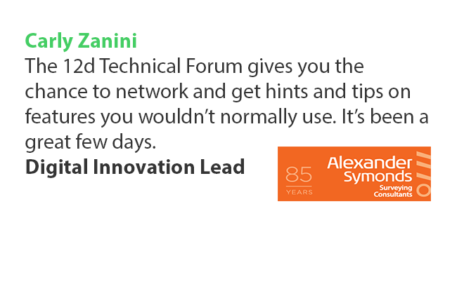 12d Technical Forum Testimonial Carly Zanini Alexander Symonds